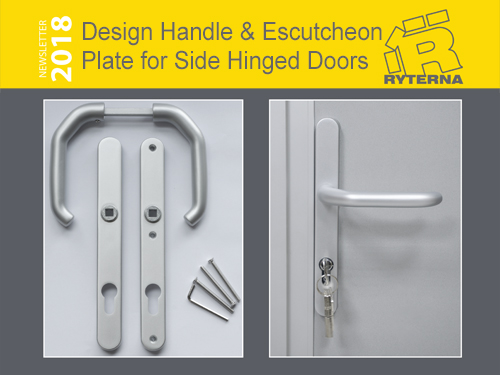 Design Handle & Escutcheon Plate for Side Hinged Doors